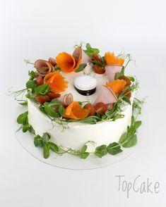 Kinkkuvoileipäkakku valmistujalle, YO-voileipäkakku Savory Cakes, Festivals, Panna Cotta, Birthday Cake, Ethnic Recipes, Desserts, Food, Tailgate Desserts, Dulce De Leche