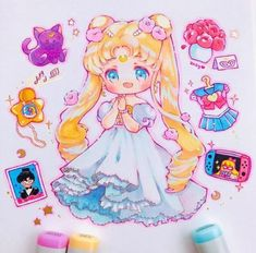 Here are Princess Serenity's favourite things in her bedroom ✨🌙 I drew this while listening to the Sailor Moon music star locket melody… Sailor Moon Fan Art, Sailor Moon Usagi, Sailor Moon Crystal, Sailor Moon Wallpaper, Wallpaper Iphone Cute, Manga Anime, Anime Art, Manga Art, Kawaii Chibi