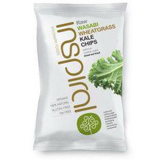 inSpiral Raw Kale Chips: Wasabi Wheatgrass