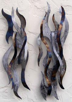 Tribal steel sculptures