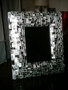 Gorgeous bombed mirror . Silver glasses mosaic by LelucciolediPapi