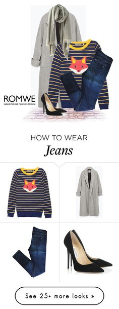 """Romwe.com Contest - Grey Scarf"" by aria-star on Polyvore featuring Zara, rag & bone, Jimmy Choo and fashionset"