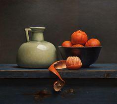 Painting: Stilleven met mandarijntjes
