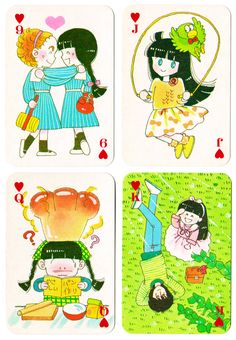 "brickme: ""Ribon furoku ""Idol 4 trump"" playing cards – Tokimeki Tonight koi ikeno (December…"