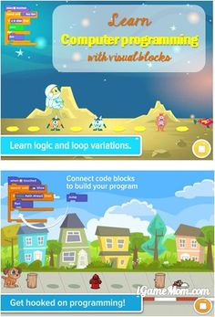 Learn computer programming with fun games Computer Coding For Kids, Computer Programming, Computer Science, Computer Projects, Computer Lab, Learning Apps, Learning Resources, Educational Games, Educational Technology