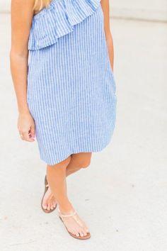 Striped One Shoulder Dress!