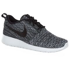 Nike Roshe One Flyknit Running Shoe ($155) ❤ liked on Polyvore featuring shoes, sneakers, footwear, nike, sport, nike footwear, decorating shoes, sports footwear and nike shoes