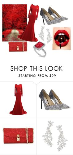 """Untitled #44"" by mala-653 ❤ liked on Polyvore featuring Jimmy Choo, Dolce&Gabbana, Kate Spade and Allurez"