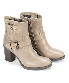 Another great find on #zulily! Taupe Burbank Leather Bootie #zulilyfinds