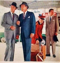New vintage-inspired men's suits. Find that classic suit style for men of the in retro colors, tex Big Men Fashion, Mens Fashion Suits, Men's Fashion, Mario Sorrenti, Mode Vintage, Vintage Men, Vintage Fashion, 1950s Mens Suits, Palm Beach