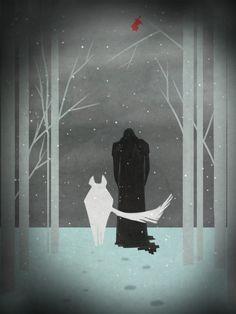 Snow and Ghost Jon Snow, Game Of Thrones Wallpaper, Valar Morghulis, Book Series, Batman, Superhero, Comics, Poster, Fictional Characters
