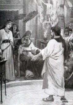 Daniel interpreting Nebuchanezzar's dream in Chapter 2