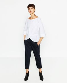 Image 1 of KNOT BOATNECK BLOUSE from Zara $39.90