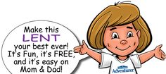 FREE video, music, and fun activities delivered to your email inbox all through Lent!