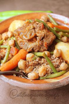 Algerian Recipes, Algerian Food, Middle Eastern Recipes, Some Recipe, Beef, Cooking, Kitchen, Week End, Table
