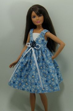 Skipper Doll Clothes  Blue Nautical Print by OhSoChicDollClothes, $8.50