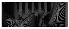 Dynamic Black And White Yoga Mat featuring the digital art Hguonereven by Douglas Christian Larsen
