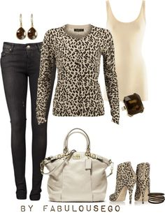 """Animal Print"" by fabulousego on Polyvore"