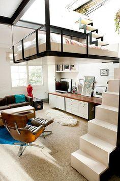 Apartamento con dormitorio en un altillo | Decoratrix | Decoración, diseño e…