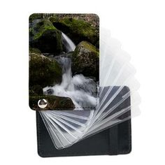 Spring Waterfall Leather Card Holder