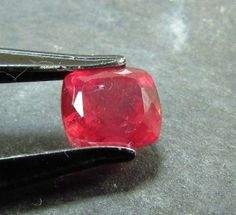 2.21ct Rare No heat Winza Ruby Natural Untreated Gemstone 7.5 x 6.5mm Tanzania