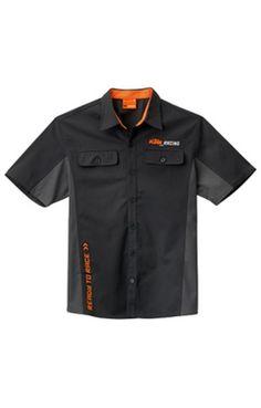 KTM MECHANIC SHIRT BLACK ADULT LOGO WORK SHIRT