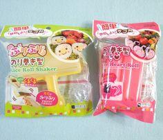 2Pcs Daiso Rice Roll Shaker Rice Heart Roll Norimaki Sushi Japanese Foods Set