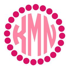 Dot Circle Monogram Decal Sticker by houseofminedesigns on Etsy https://www.etsy.com/listing/225106588/dot-circle-monogram-decal-sticker