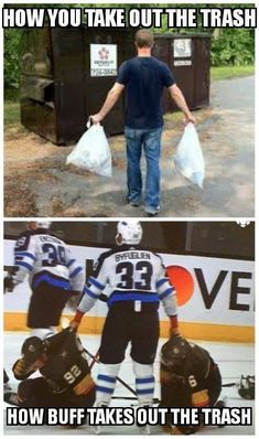 how hockey players take out the trash The Effective Pictures We Offer You About Ice Hockey Players boys A quality picture can tell you many th Jets Hockey, Hockey Baby, Hockey Girls, Flyers Hockey, Bruins Hockey, Funny Hockey Memes, Hockey Quotes, Hot Hockey Players, Nhl Players