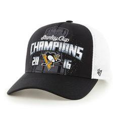 Men's Pittsburgh Penguins '47 Black/White 2016 Stanley Cup Champions Locker Room Adjustable Hat