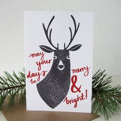 Merry And Bright Christmas Card by Stephanie Cole Design