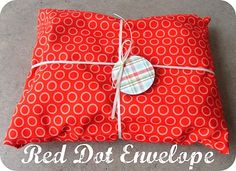 Red Dot Envelope    (Works great as reusable gift wrap!)    www.the-red-kitchen.com