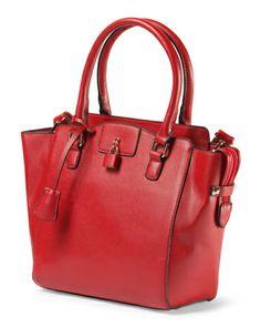"Satchel With Lock Handbag TJMaxx $30 in Brown ""Coffee"""
