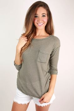This classic striped top was made for summer getaways!