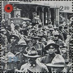Stamp: Maori battalion return (New Zealand) (1918 Back From The Brink) WAD:NZ031.18