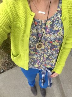 Omg!  My fave outfit!  The cabi Loren sweater with the positano top and la belt!!!  Cabi Spring '16