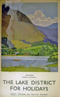 LMS-The Lake District for Holidays - Grasmere - Our collection - National Railway Museum Posters Uk, Train Posters, Railway Posters, Art Deco Posters, Poster Prints, Vintage Advertising Posters, Vintage Travel Posters, National Railway Museum, Tourism Poster