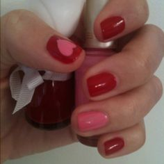 Valentine nails <3 Lex will love.