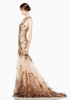 you have to be ultra thin to make this dress look good..  Alexander McQueen pre-Spring 2012