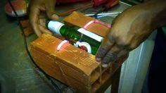 Maquina caseira de cortar garrafa de vidro