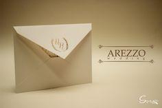 Novo Convite de Casamento #Arezzo Modelo Fino e Tradicional  Impressão em Hotstamping e papeis Color Plus Markatto 250g  http://spaziomidia.com.br/convites/arezzo/