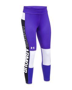 888b4aa8e90fb5 Under Armour Ua Colorblocked Cropped Leggings, Big Girls - Purple XL