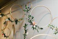 hanging floral hoops