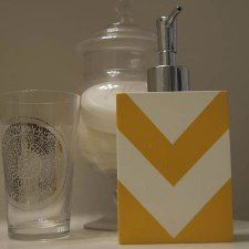 DIY chevron soap dispenser