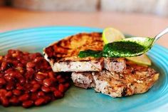 CUBAN PORK CHOPS. SOUNDS DELISH.