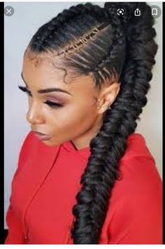 Braided Ponytail Styles For Black Hair - All About Style Rhempreendimentos. Box Braids Hairstyles, Braided Ponytail Hairstyles, Ponytail Styles, Trendy Hairstyles, Ponytail With Weave, Ponytail Ideas, Updo Styles, Hairstyles For Black Women, Fishtail Ponytail