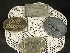 Metal Belt Buckles Farm Agricultural Collectible Vintage | Etsy Etsy Vintage, Vintage Items, Rectangle Shape, Oval Shape, Metal Belt, Gift Exchange, Vintage Accessories, Stocking Stuffers, Belt Buckles