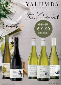 Yalumba the Y Series is nu in de actie! profiteer van deze aanbiedingen en geniet met extra voordeel van deze prachtige Australische wijnen van Yalumba. Actie loopt tm 30 oktober 2106 http://www.flesjewijn.com/yalumba-the-y-series