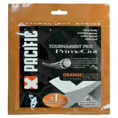 Pacific Prime Gut Orange Bullfibre 16  is the most labor intensive natural gut produced by Pacific consisting of hand selected, premium natural gut, enhanced with orange bull fibre.  This string is the ultimate in power, comfort, and feel with exceptional tension maintenance.  Pacific's Triple Seal Technology, consisting of a series of coatings, protects the string from heat and moisture, ensuring that the string plays to its maximum throughout the life.  Prime Gut Bullfibre is designed to…