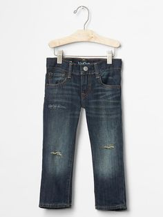 Fall Picture Day??? GAP Kids 1969 destructed straight jeans Product Image